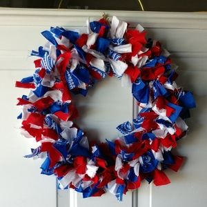 Other - Red White & Blue Rag Wreath